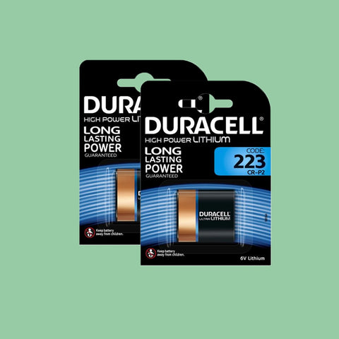 Duracell 223 CR-P2 6V Lithium Battery, Twin Pack