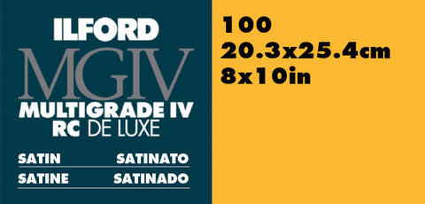 Ilford Multigrade RC 8x10 Satin 100 Sheets