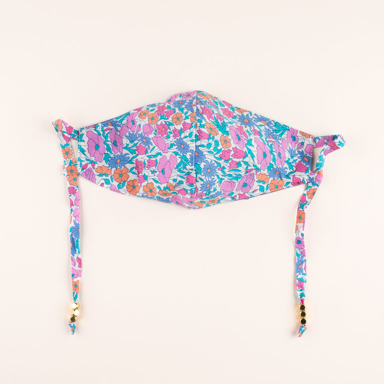 Liberty Print Mask Floral Pink Blue