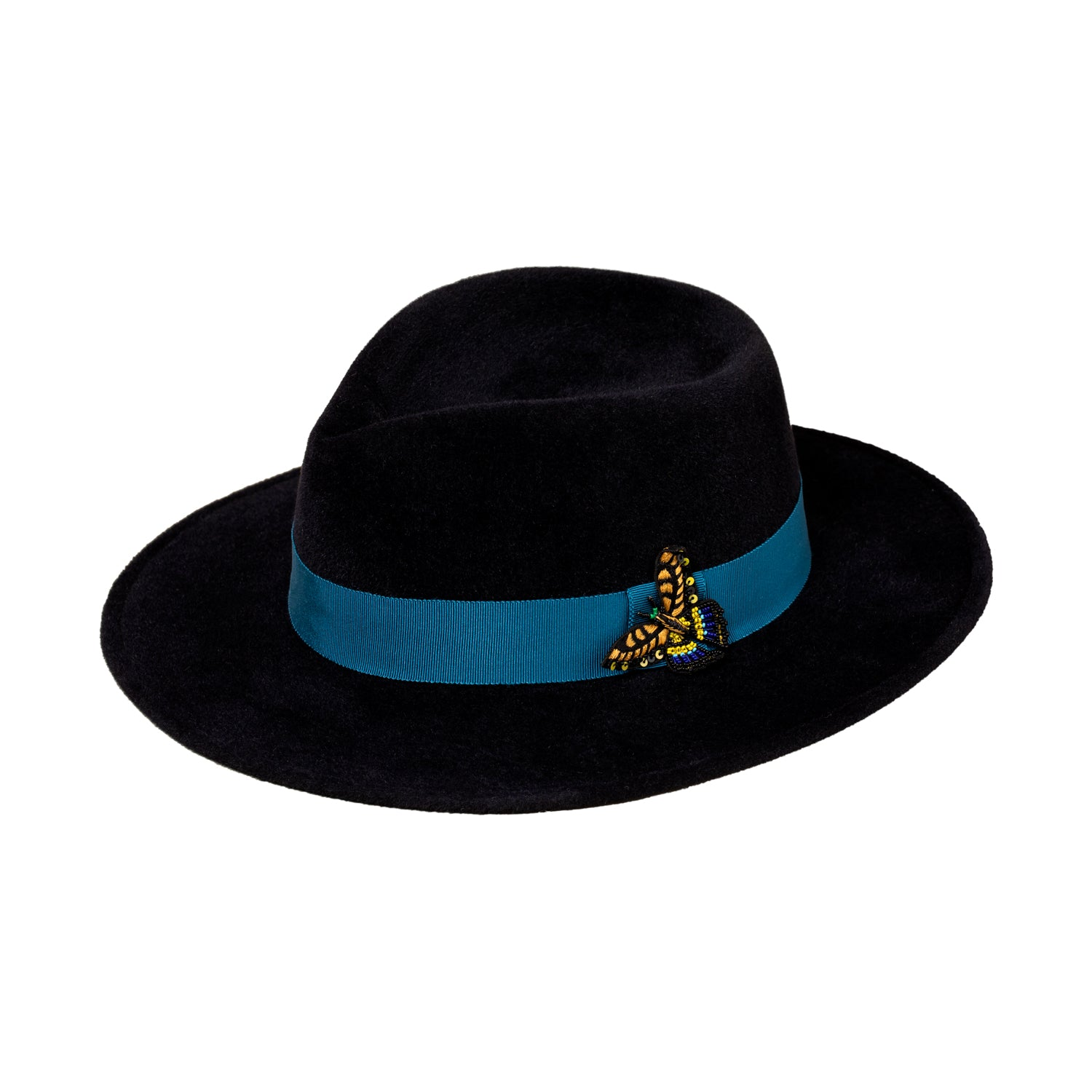 MG x Gigi Burris Almond Fedora Hat Midnight Rider