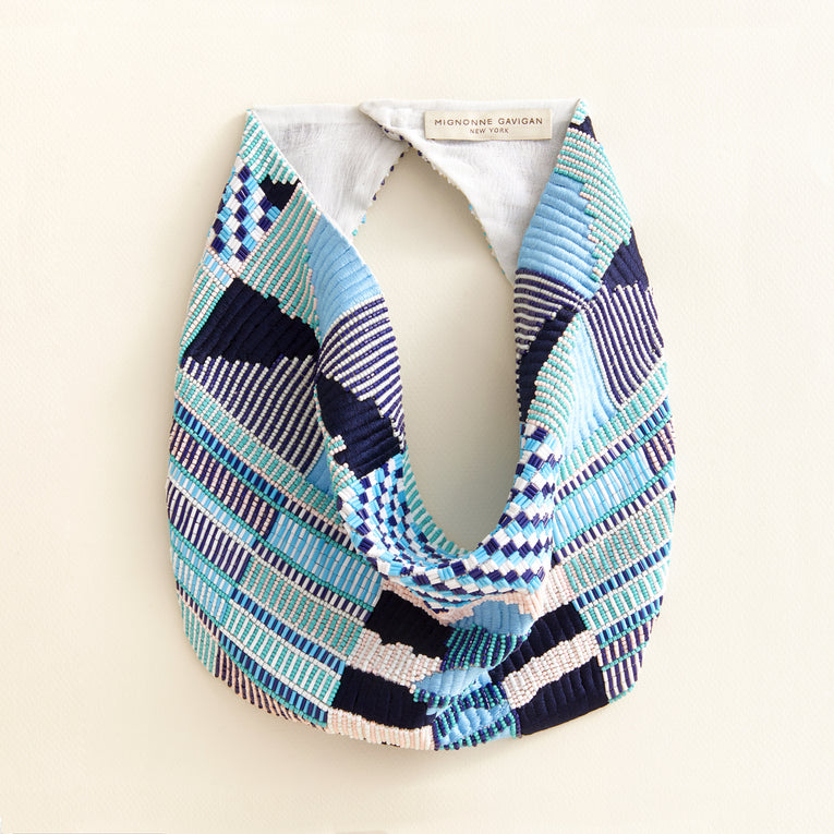 Zane Scarf Necklace Blue