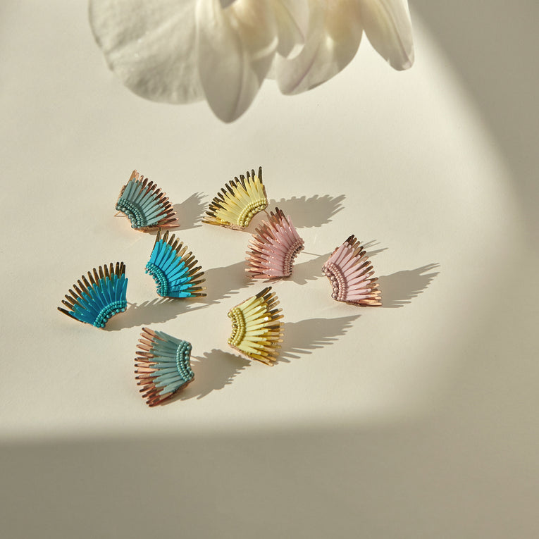 Mignonne Gavigan Mini Madeline Earrings Beach Glass Rose Gold