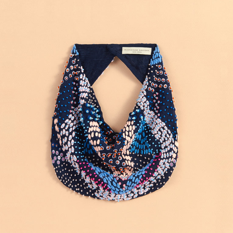Mignonne Gavigan Zoe Scarf Necklace in Blue