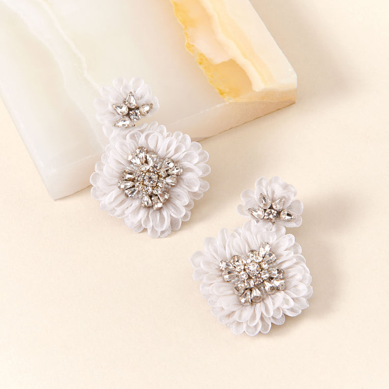 Mila Earrings in Ivory