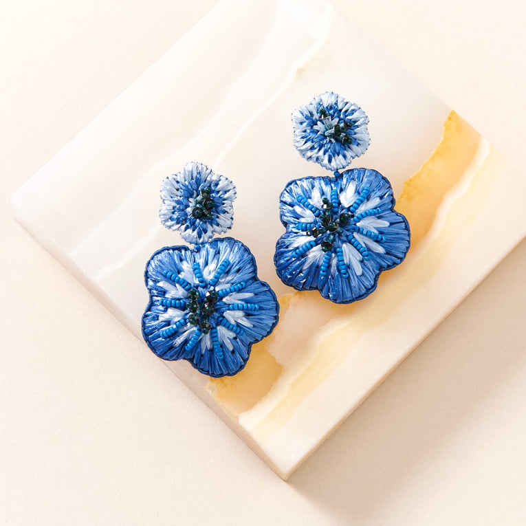 Mignonne Gavigan Rae Drop Earrings in blue