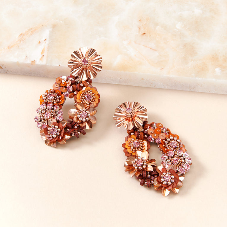 Mignonne Gavigan Elyse Earrings in rose gold