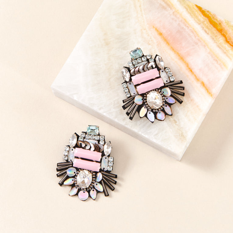 Heather Mini Earrings Pastel Pink