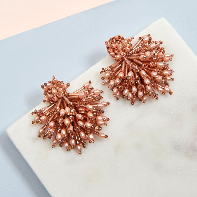Burst Earrings Blush