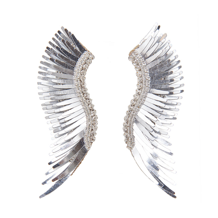 Mignonne Gavigan Metallic Madeline Earrings in silver color