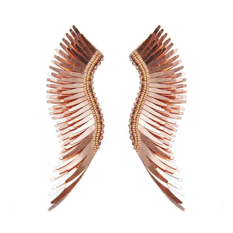 Mignonne Gavigan Metallic Madeline Earrings Rosegold