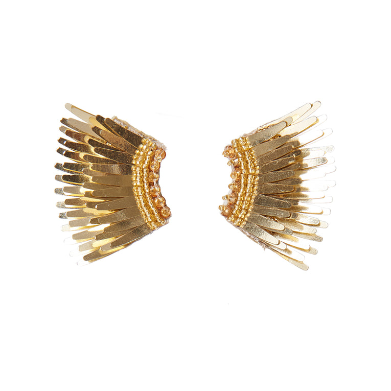 Mignonne Gavigan Metallic Mini Madeline Earrings Gold