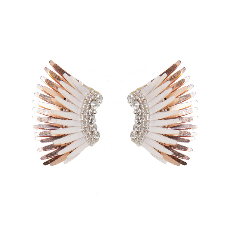 Mignonne Gavigan Mini Madeline Earrings Ivory / Rosegold