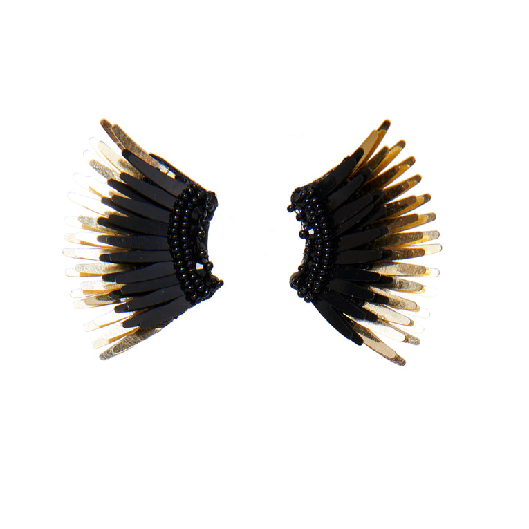 Mignonne Gavigan Mini Madeline Earrings in black gold color