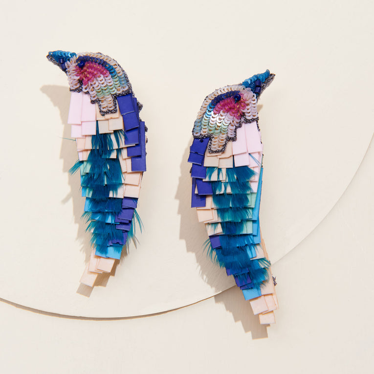 Mignonne Gavigan Bird earrings in Turquoise