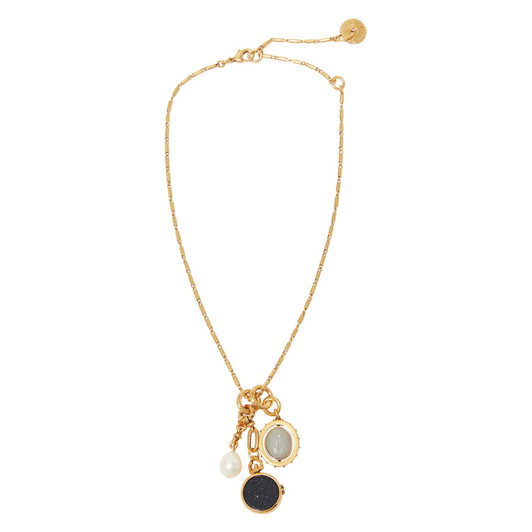 Keepsake Necklace Black Gold