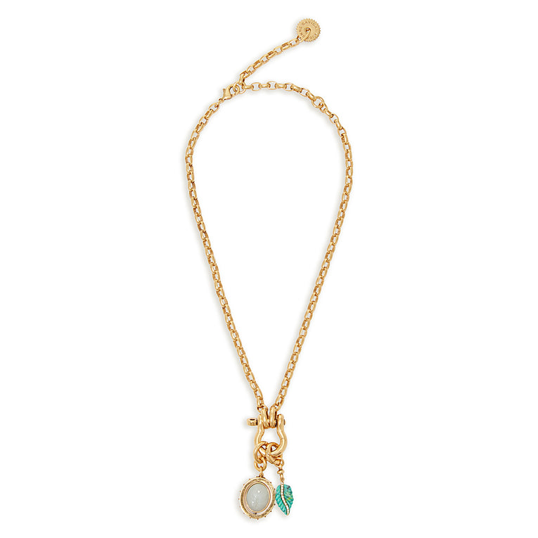 Hope Necklace Turquoise Gold