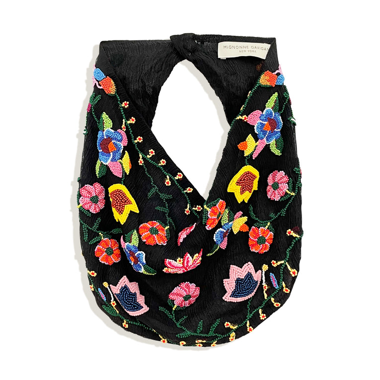 Matilde Scarf Necklace Black Multi
