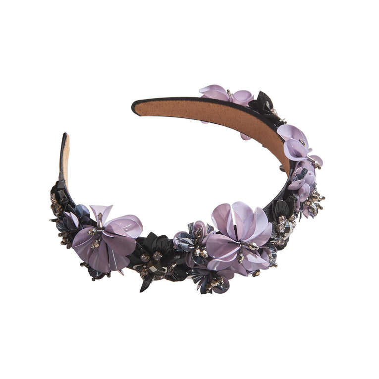 Karolina Headband Grey/Purple