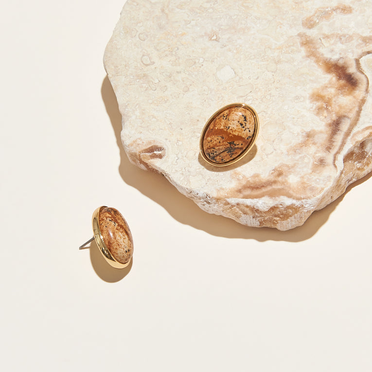 Adelaide Stud Earrings Jasper