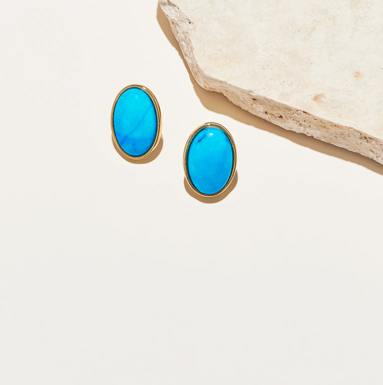 Adelaide Stud Earrings Turquoise