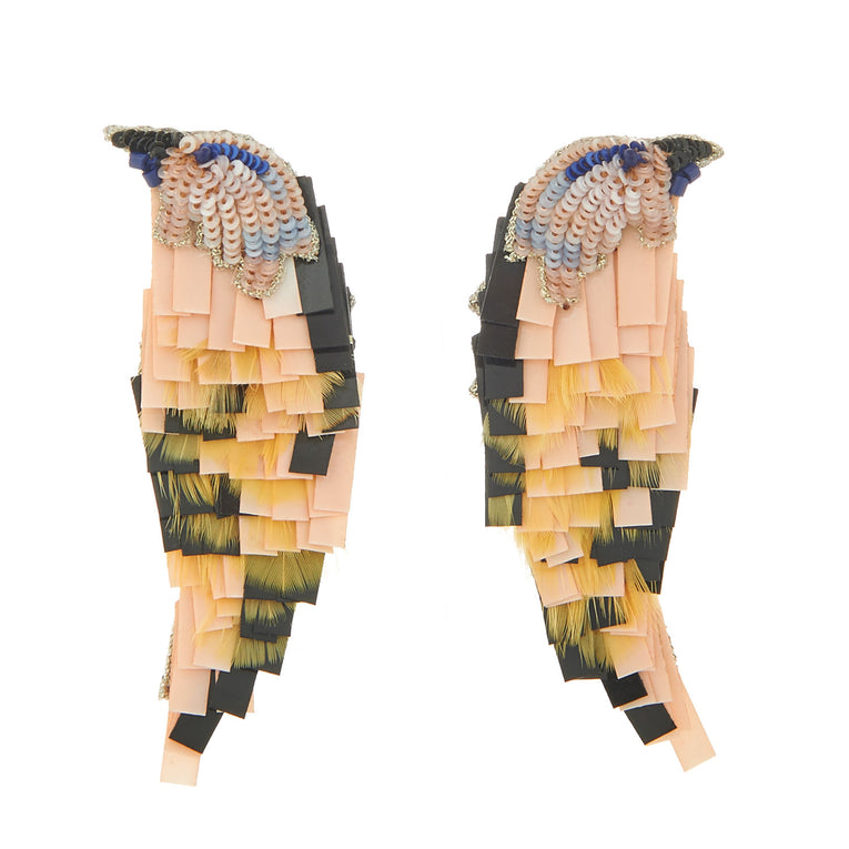 Mignonne Gavigan Bird earrings in Toffee