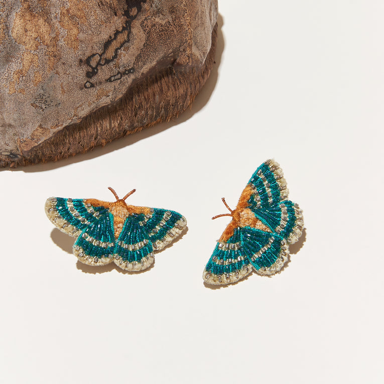 Butterfly Stud Earrings Turquoise
