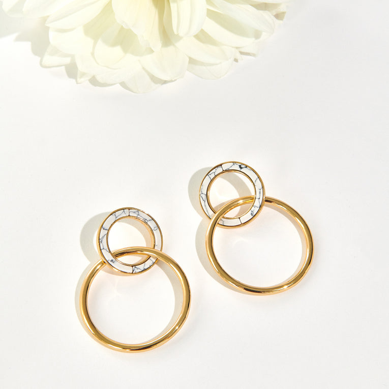 Mignonne Gavigan Carly Hoop Earrings White Gold