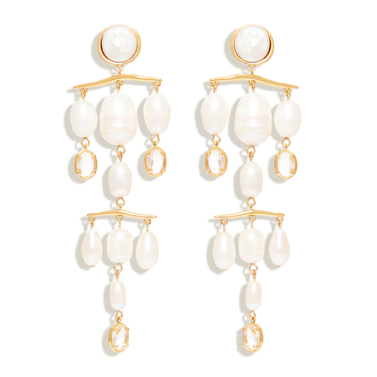 Celine Earrings White Gold