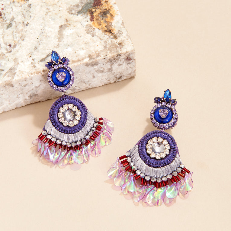 Mignonne Gavigan Chloe Earrings in Purple