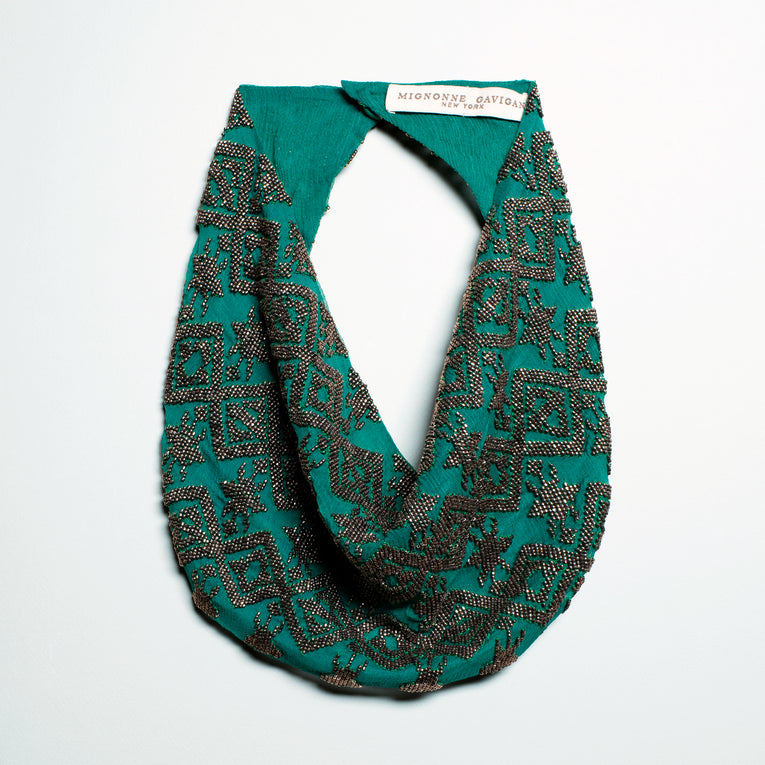 Mignonne Gavigan Dakota Scarf Necklace Emerald