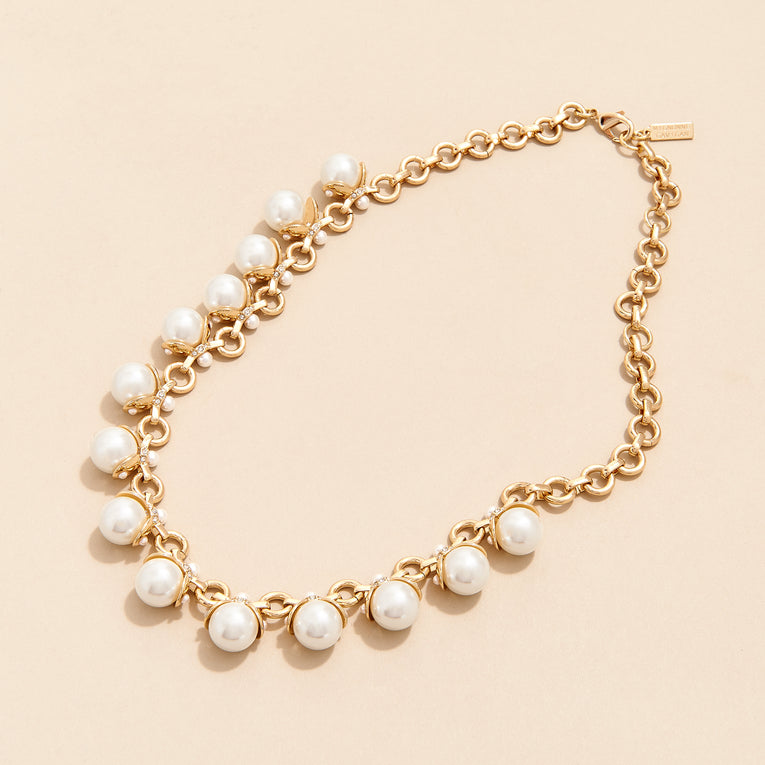 Mignonne Gavigan Delfina Pearl Necklace White Gold