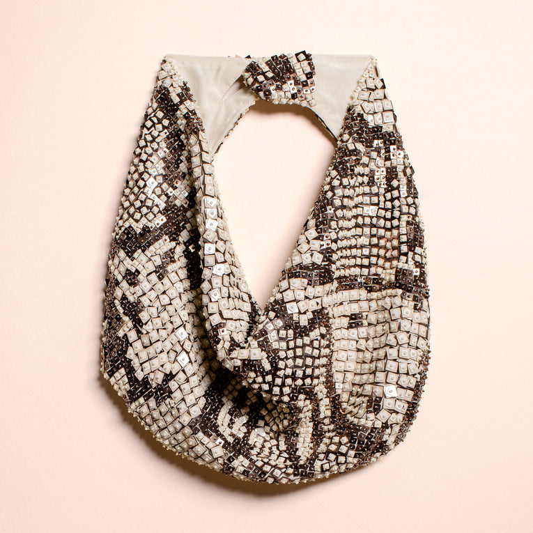 Mignonne Gavigan Diamondback Scarf Necklace Neutral