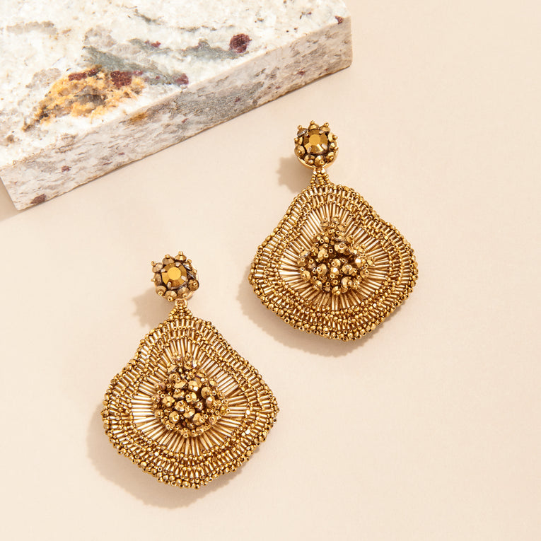 Mignonne Gavigan Emilia Earrings in gold color