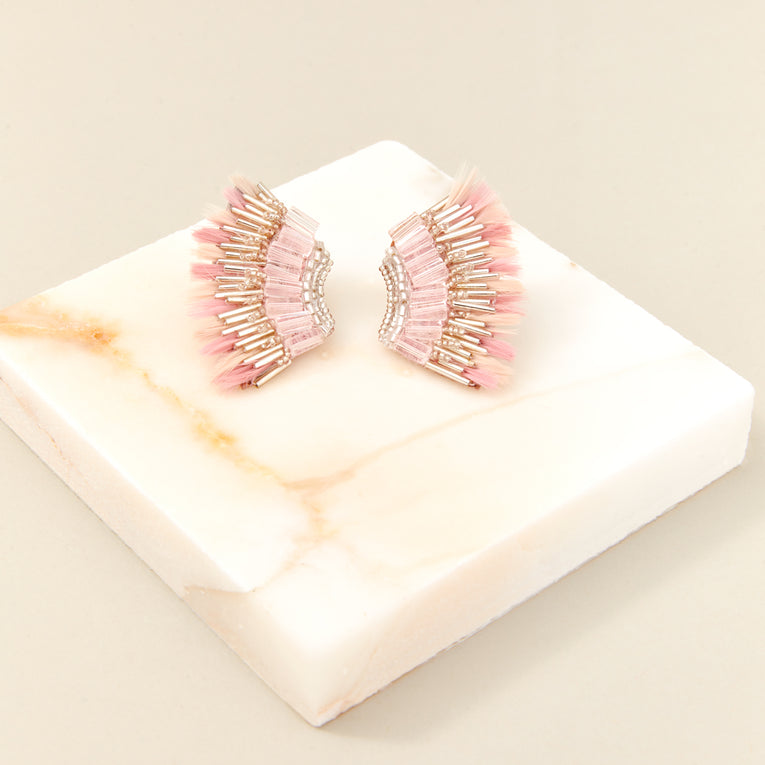 Mignonne Gavigan Feather Mini Madeline Earrings in pink