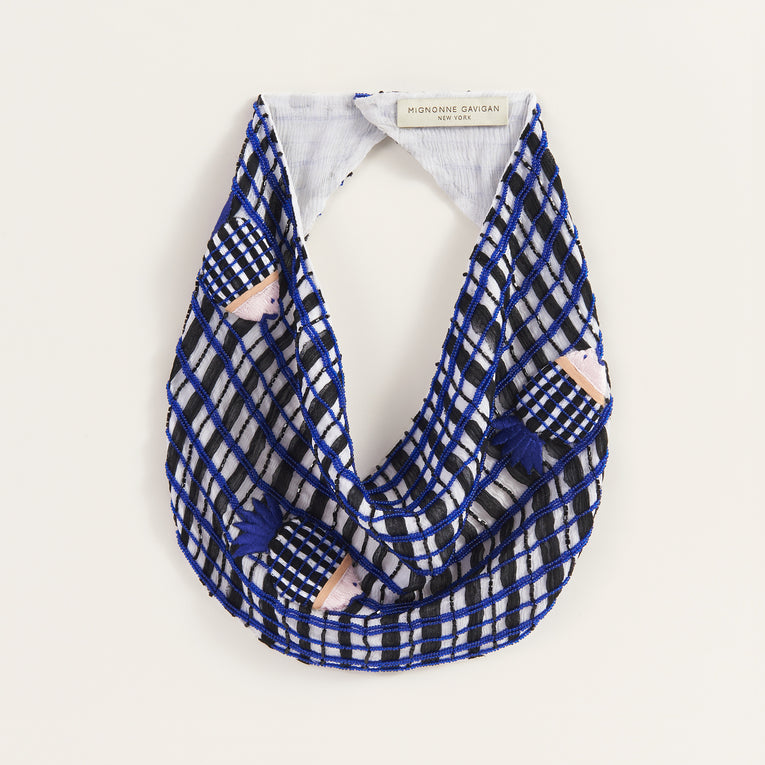 Mignonne Gavigan Fish Scarf Necklace in blue color