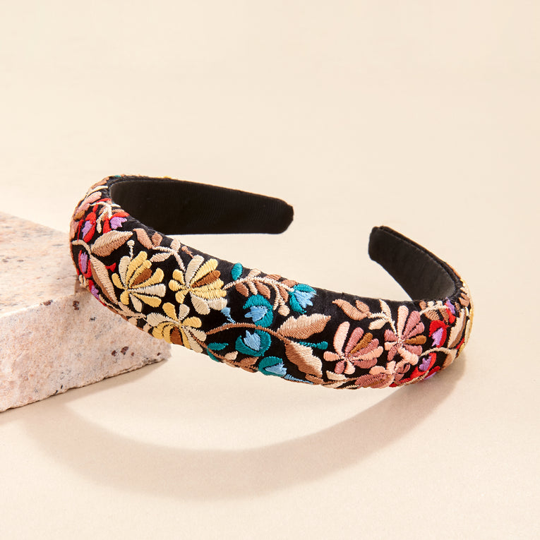 Mignonne Gavigan Floral Headband in black multi color