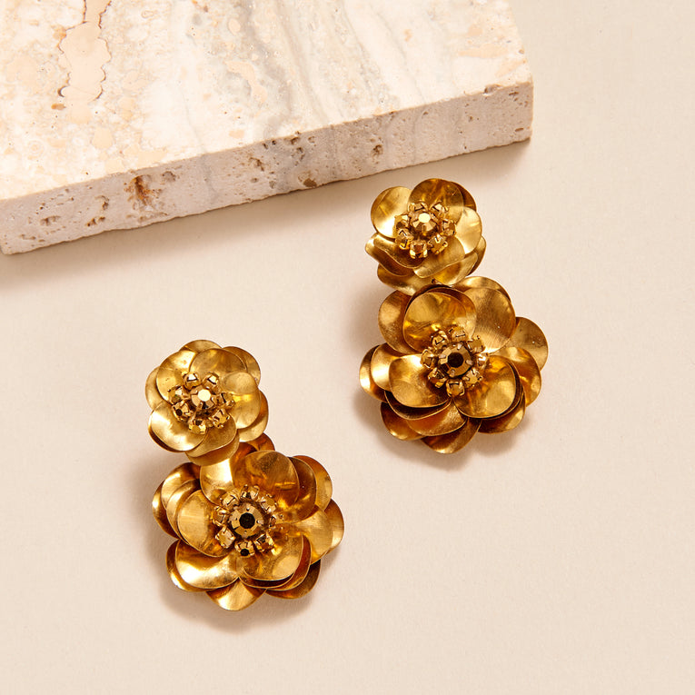 Mignonne Gavigan Flora Stella Drop Earrings Gold
