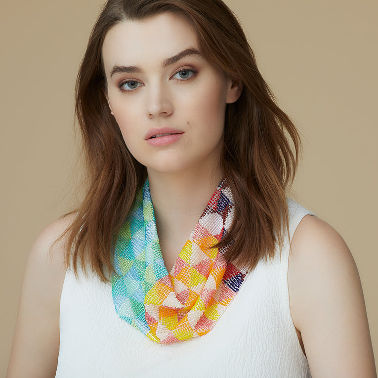 Mignonne Gavigan Gia Scarf Necklace in multi color