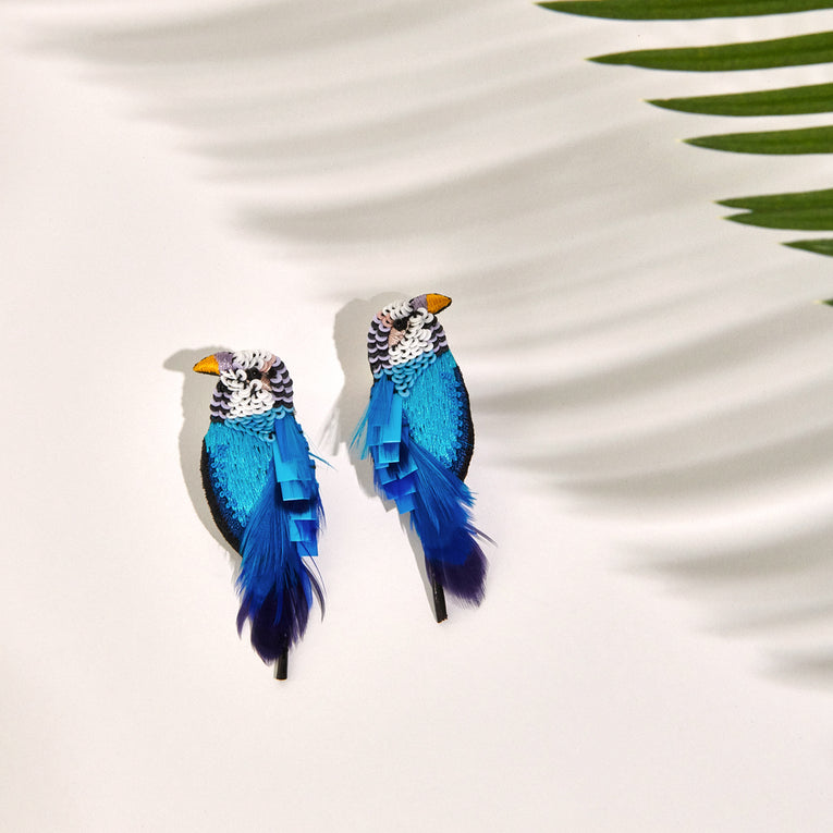 Mignonne Gavigan Parakeet Earrings Blue