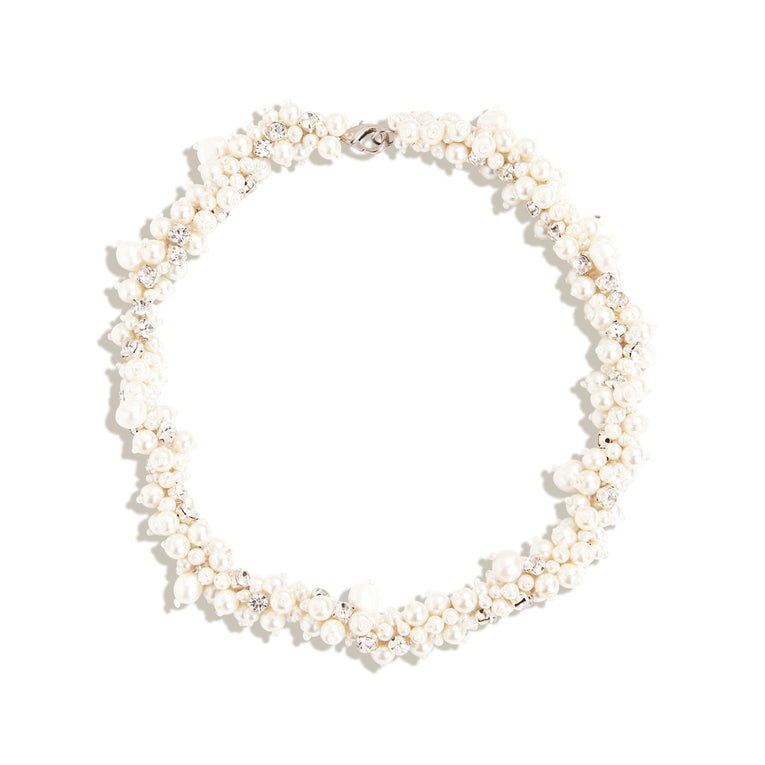 Isadora Pearl Collar White