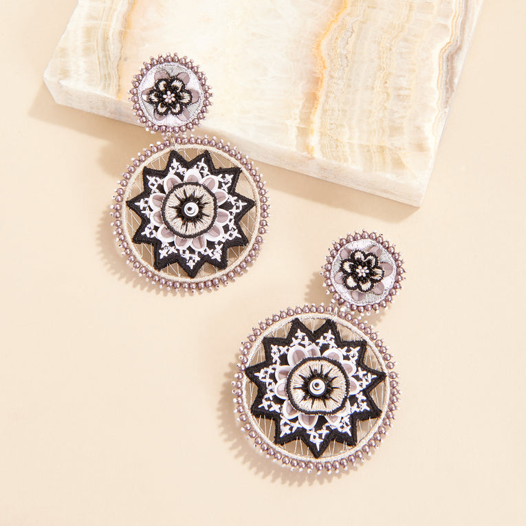 Mignonne Gavigan Jacey Earrings Black White