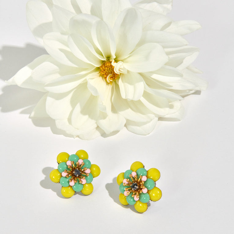 Mignonne Gavigan Jane Stud Earrings Lime