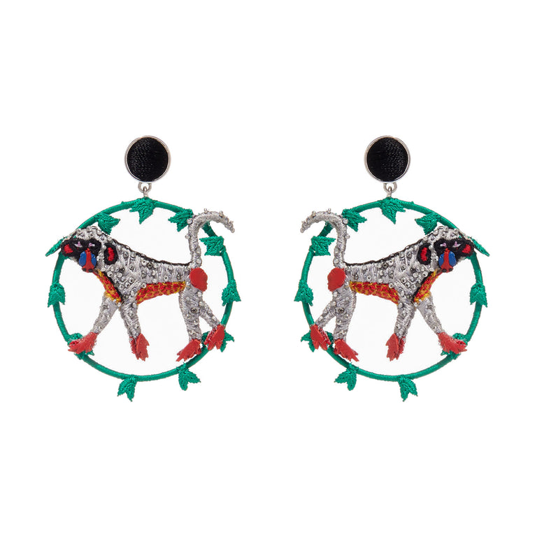 Mignonne Gavigan Keke Earrings in green and red