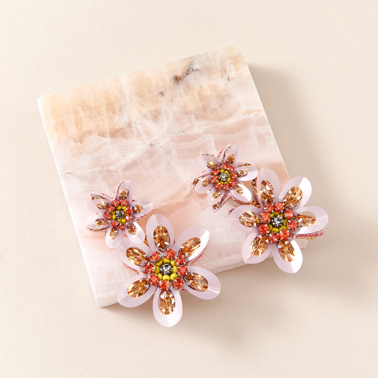 Mignonne Gavigan Kira Drop Earrings in pink color