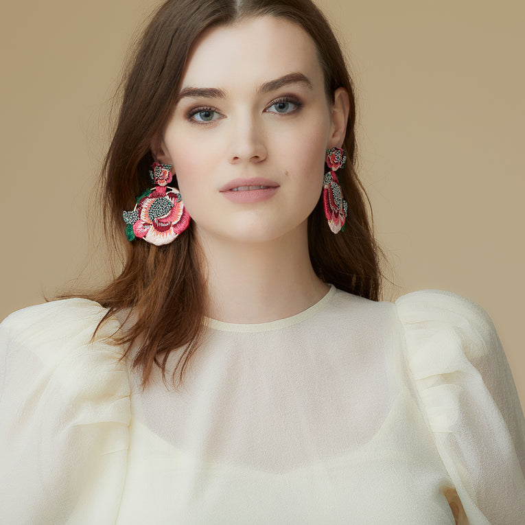 Mignonne Gavigan Lela Earrings in red color