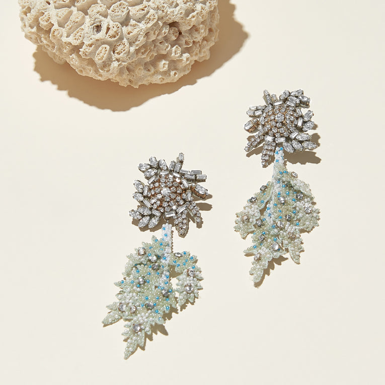 Lila Fern Earrings Mint