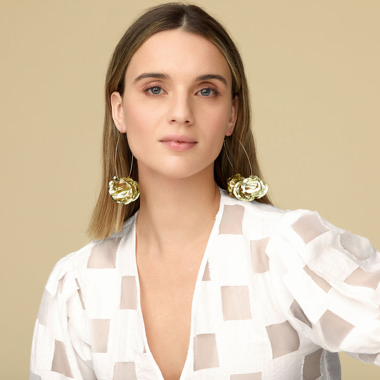 Mignonne Gavigan Mega Lola Hoop Earrings in Gold