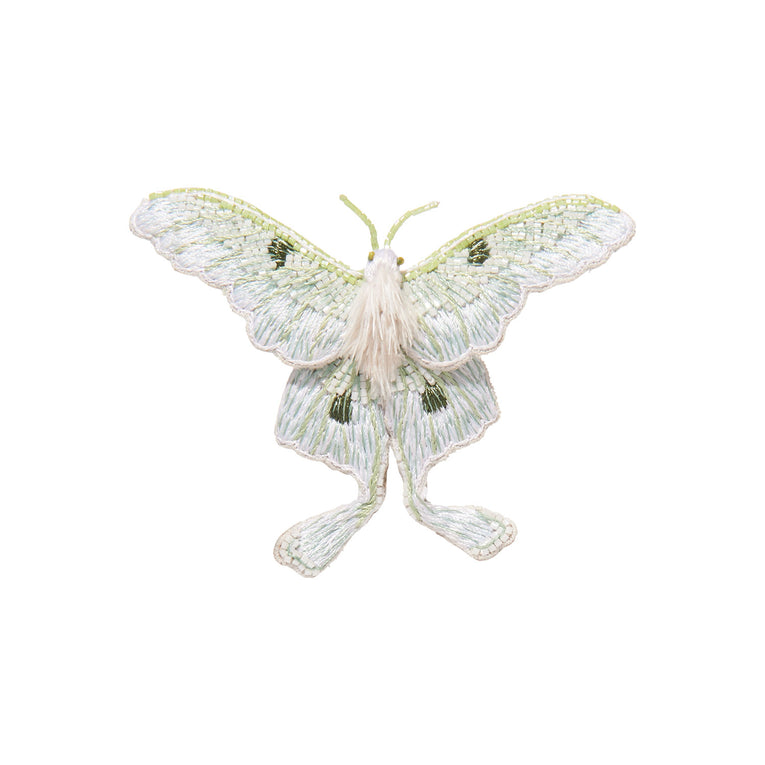 Luna Brooch White/Mint