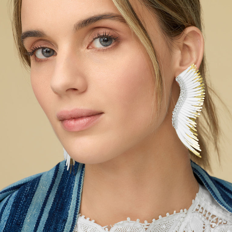 Mignonne Gavigan Madeline Earrings White/Gold