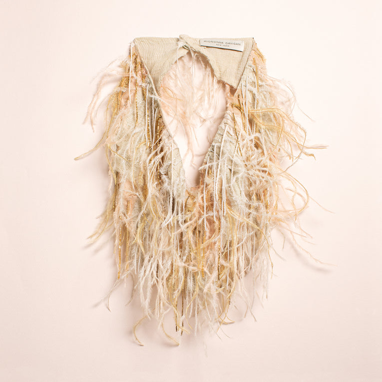 Mignonne Gavigan Marfa Scarf Necklace Neutral